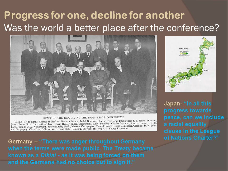 Progress for one, decline for another Was the world a better place after the conference