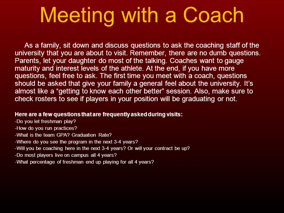 Meeting with a Coach