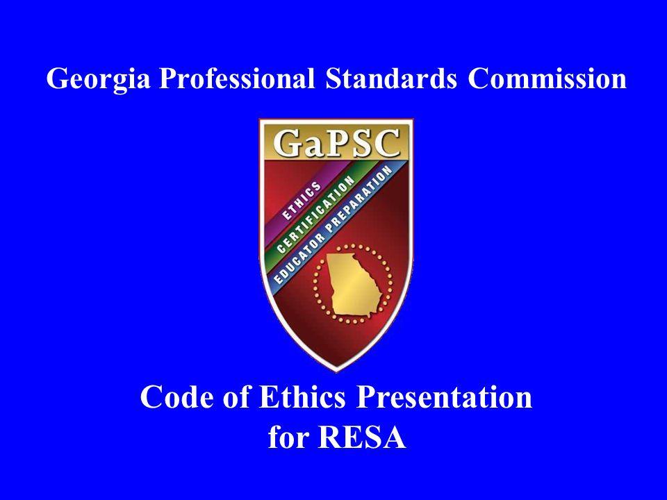 Code of Ethics Presentation for RESA