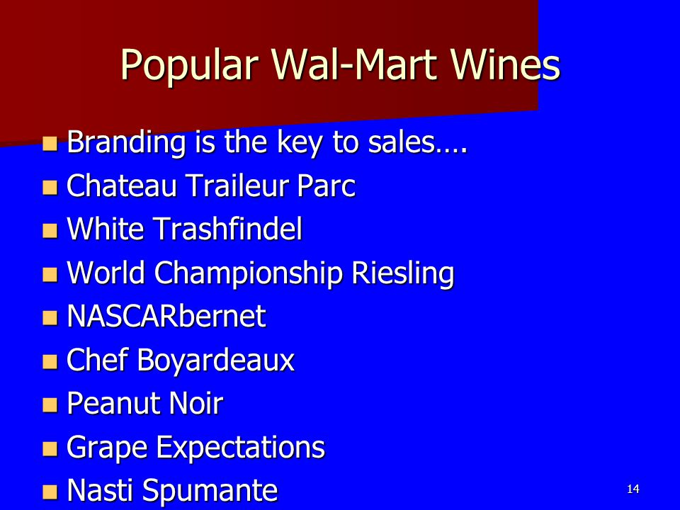 Popular Wal-Mart Wines