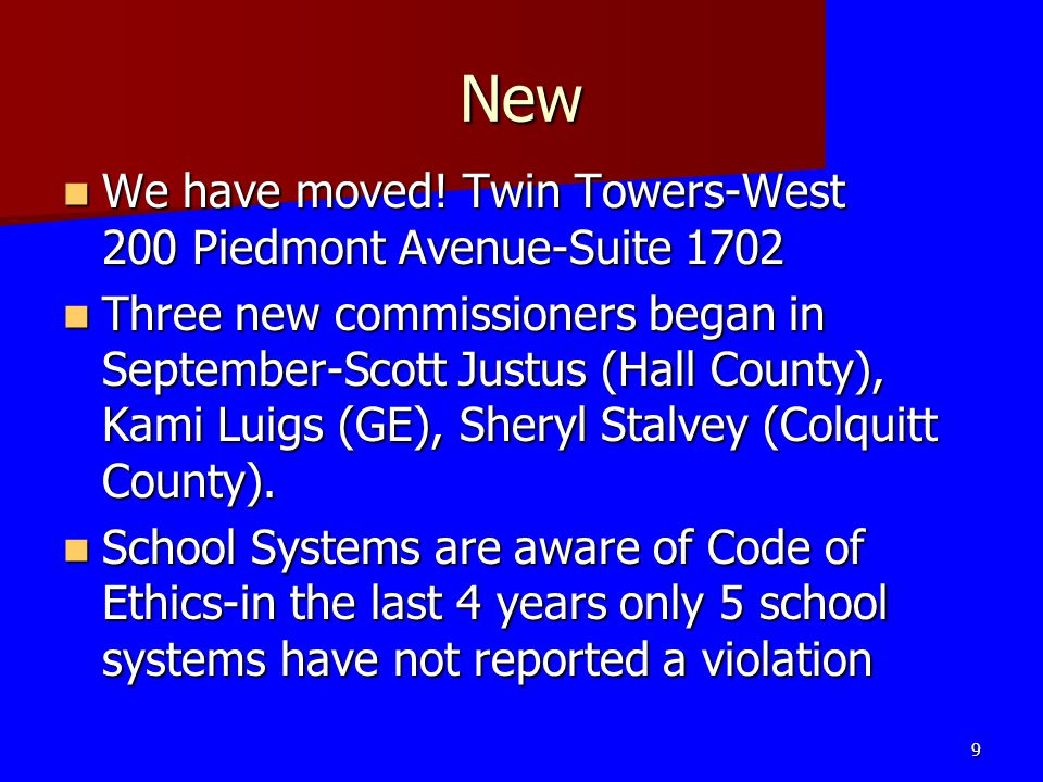 New We have moved! Twin Towers-West 200 Piedmont Avenue-Suite 1702