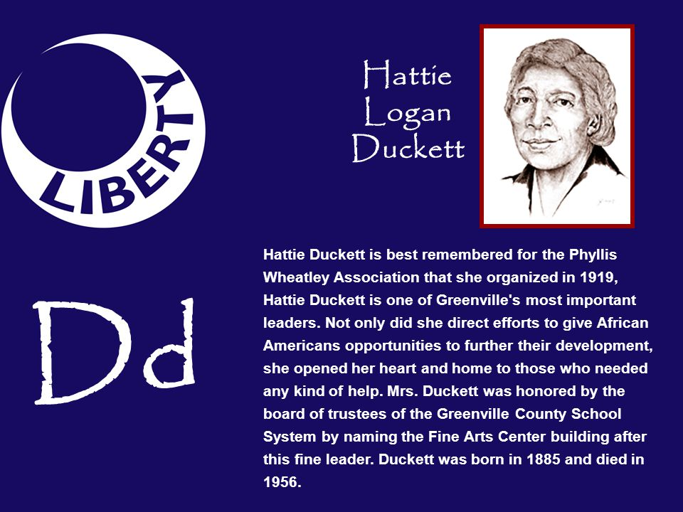 Dd Hattie Logan Duckett