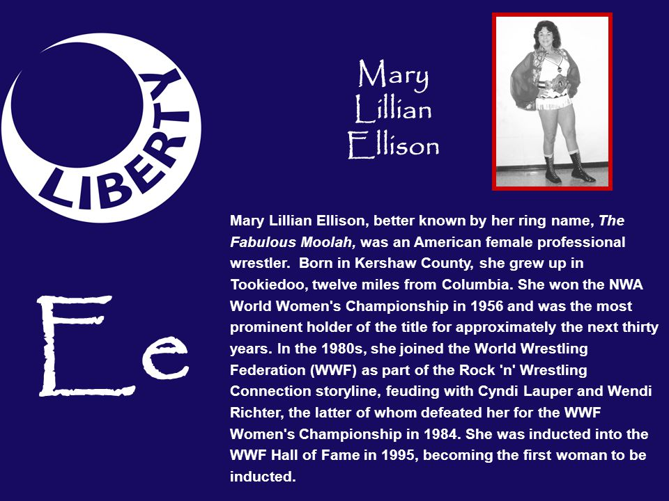 Ee Mary Lillian Ellison