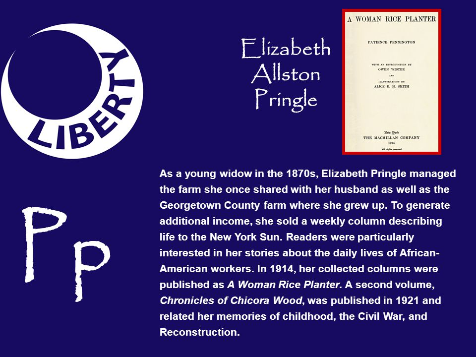 Elizabeth Allston Pringle