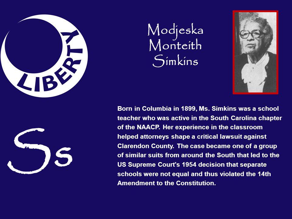 Modjeska Monteith Simkins