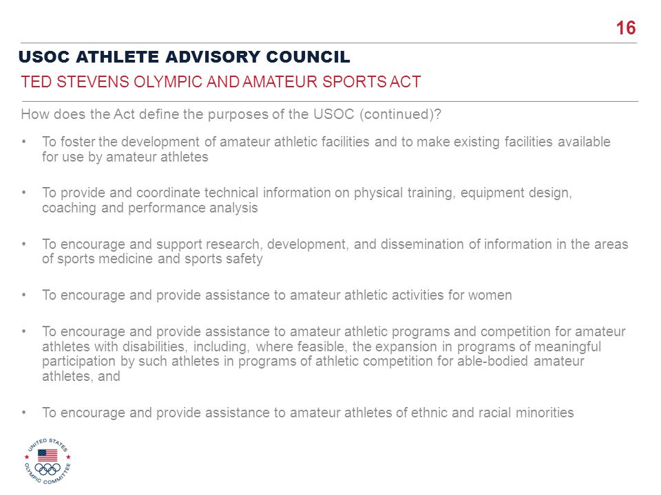Ted Stevens Olympic and Amateur Sports Act