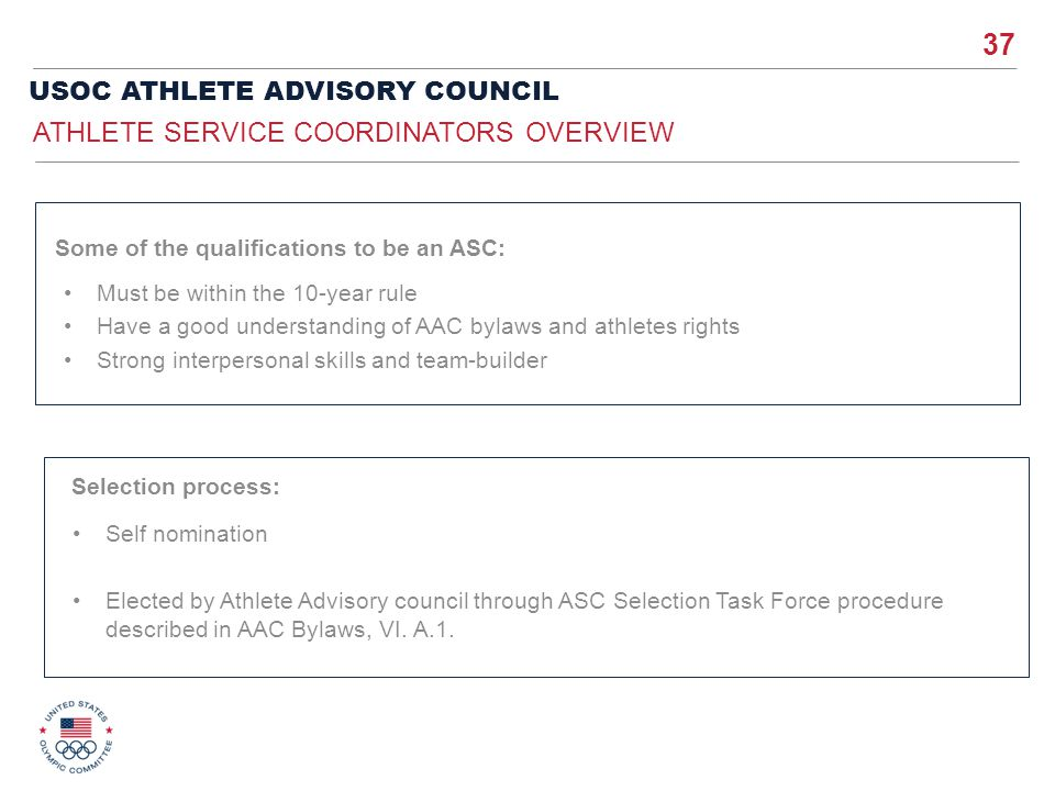 Athlete Service Coordinators Overview