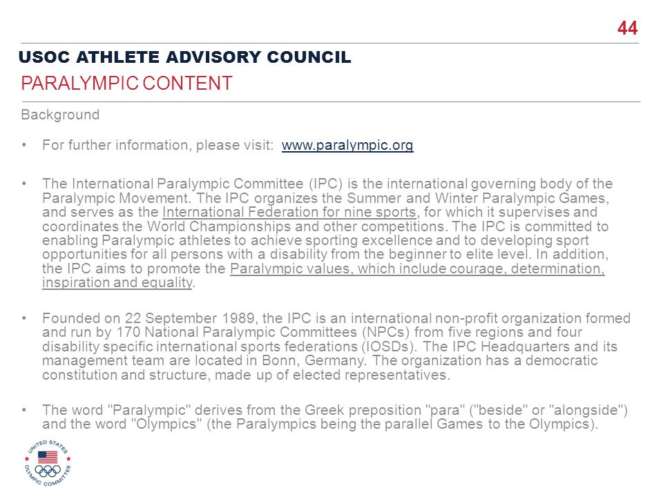 Paralympic Content Background