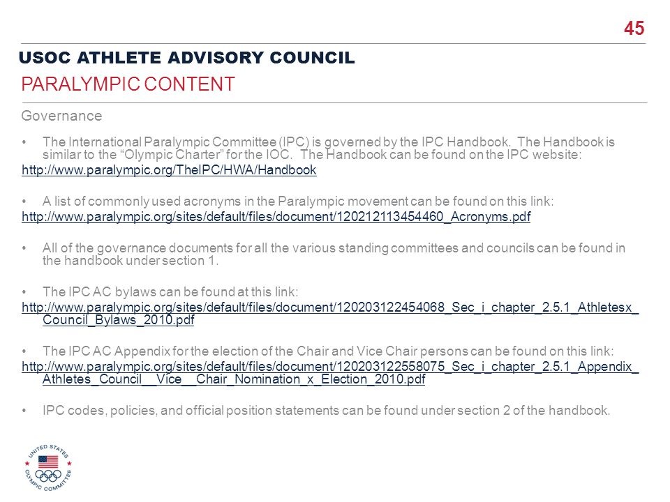 Paralympic Content Governance