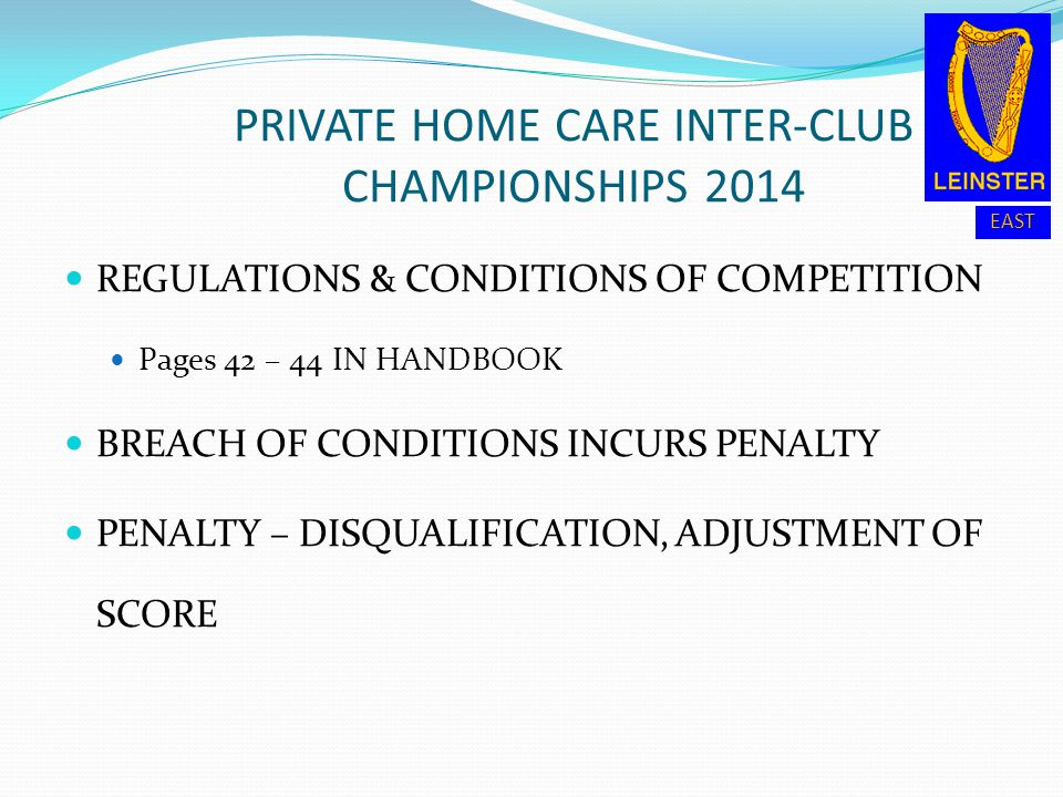 PRIVATE HOME CARE INTER-CLUB CHAMPIONSHIPS 2014