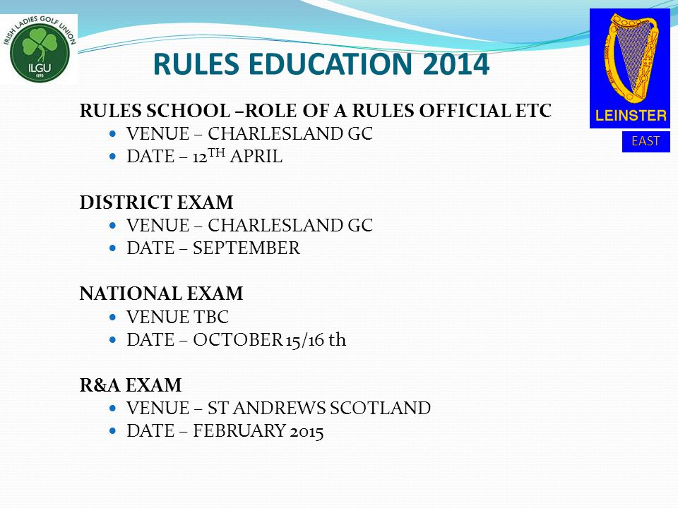 RULES EDUCATION 2014 RULES SCHOOL –ROLE OF A RULES OFFICIAL ETC