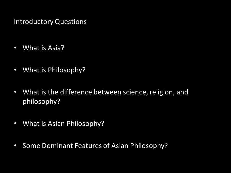 Introductory Questions