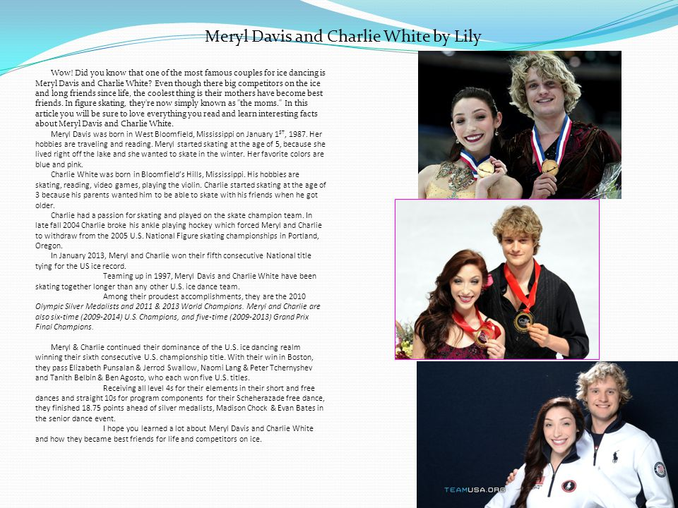 Meryl Davis and Charlie White by Lily