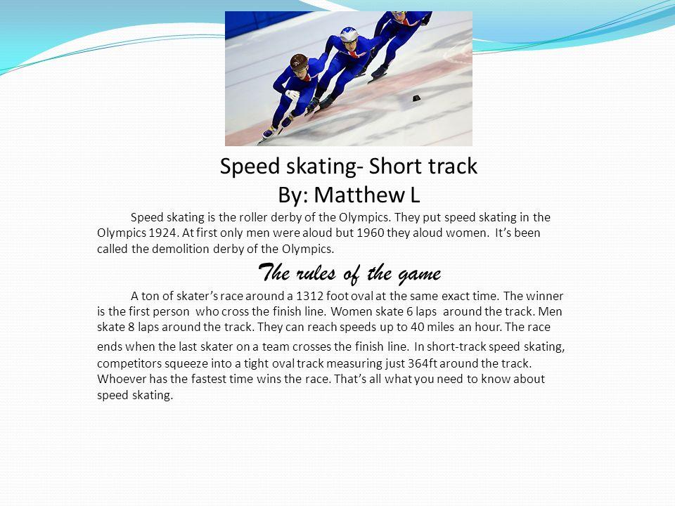 Speed skating- Short track