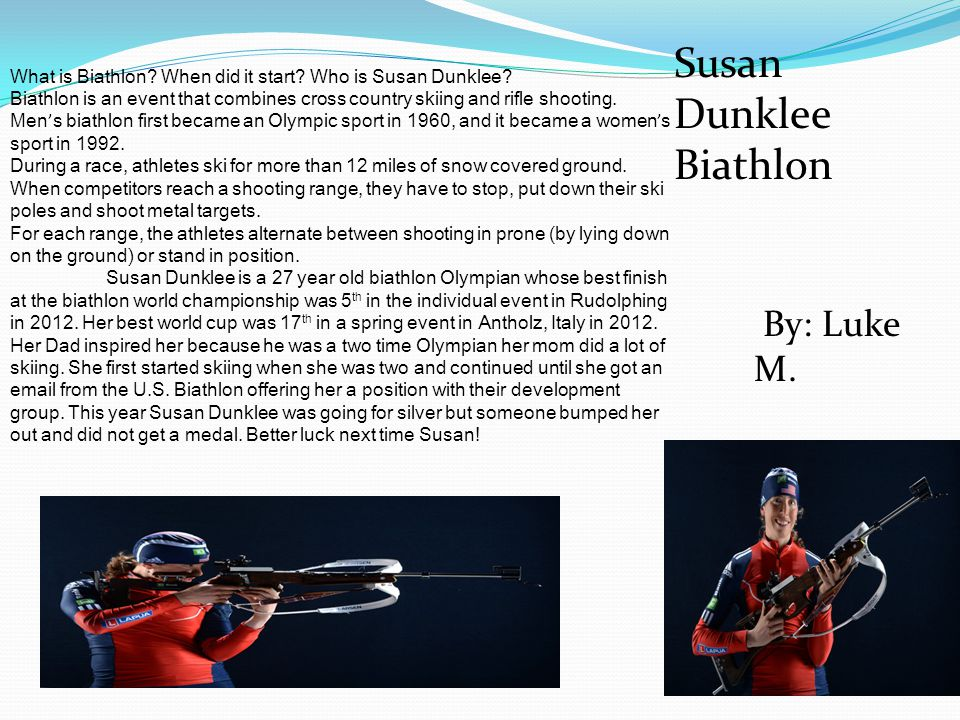 Susan Dunklee Biathlon