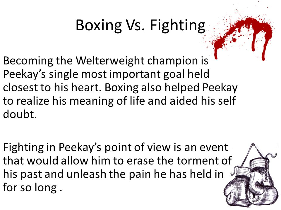 Boxing Vs. Fighting