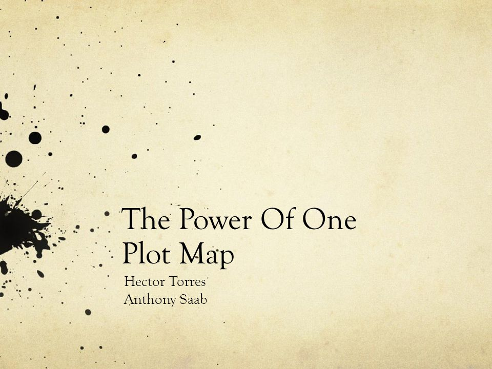 The Power Of One Plot Map