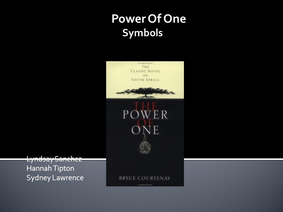Power Of One Symbols Lyndsay Sanchez Hannah Tipton Sydney Lawrence