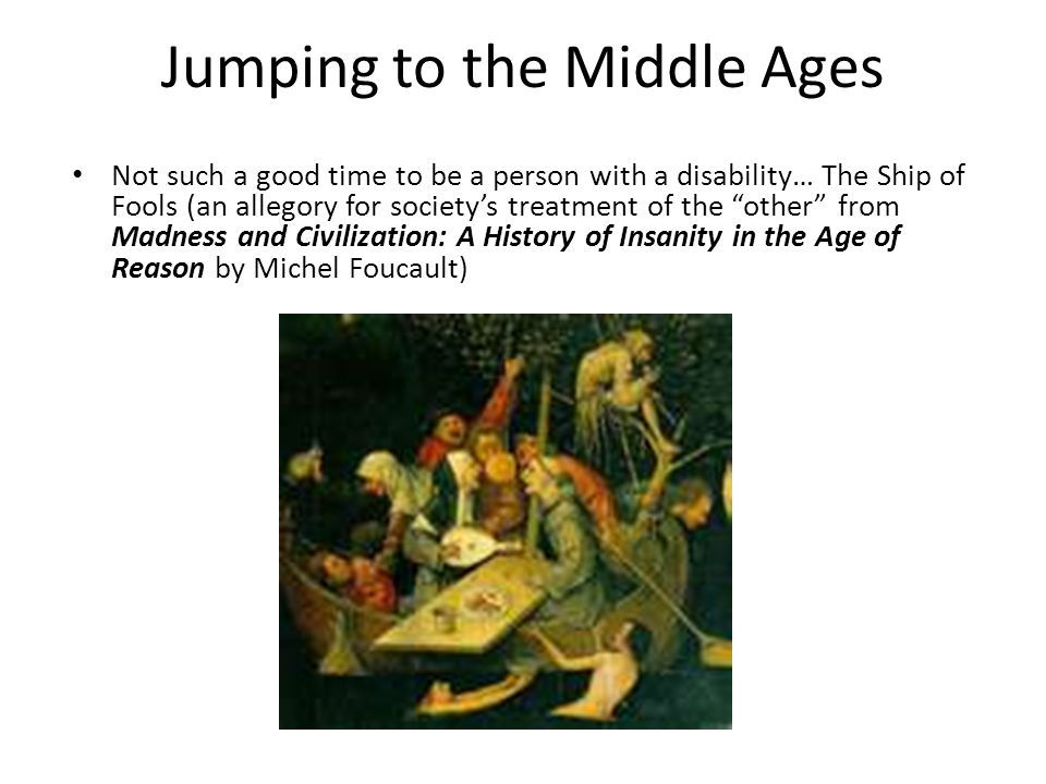 Jumping to the Middle Ages