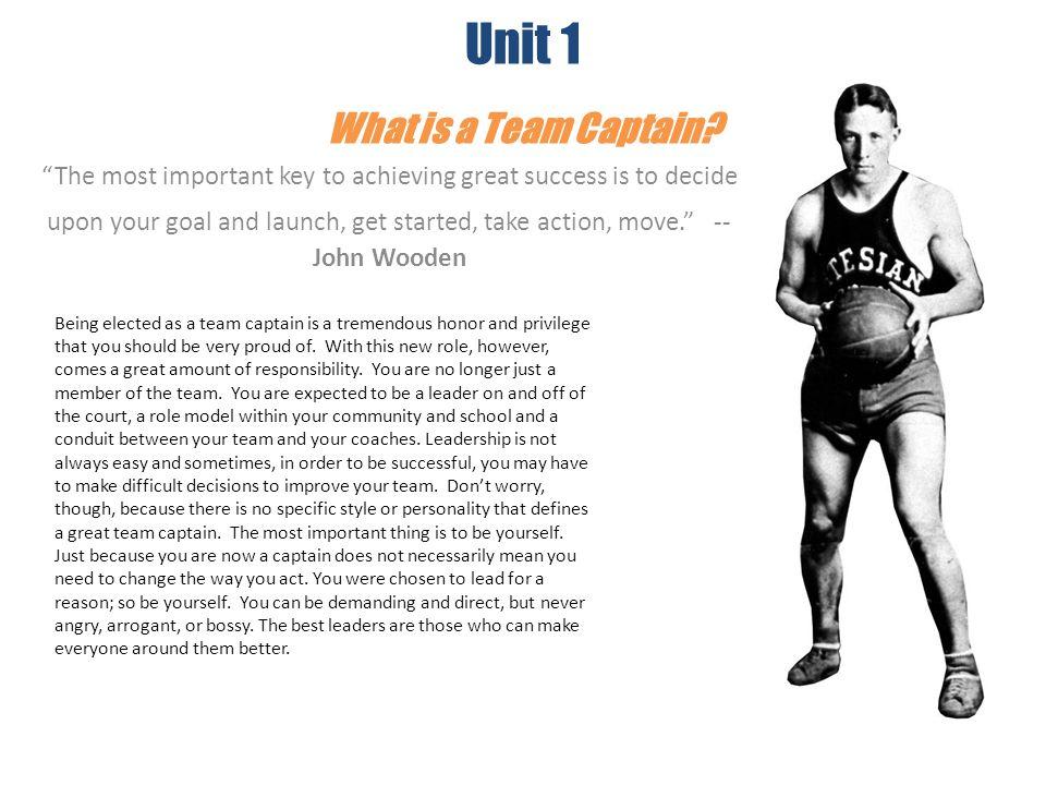 Unit 1 What is a Team Captain
