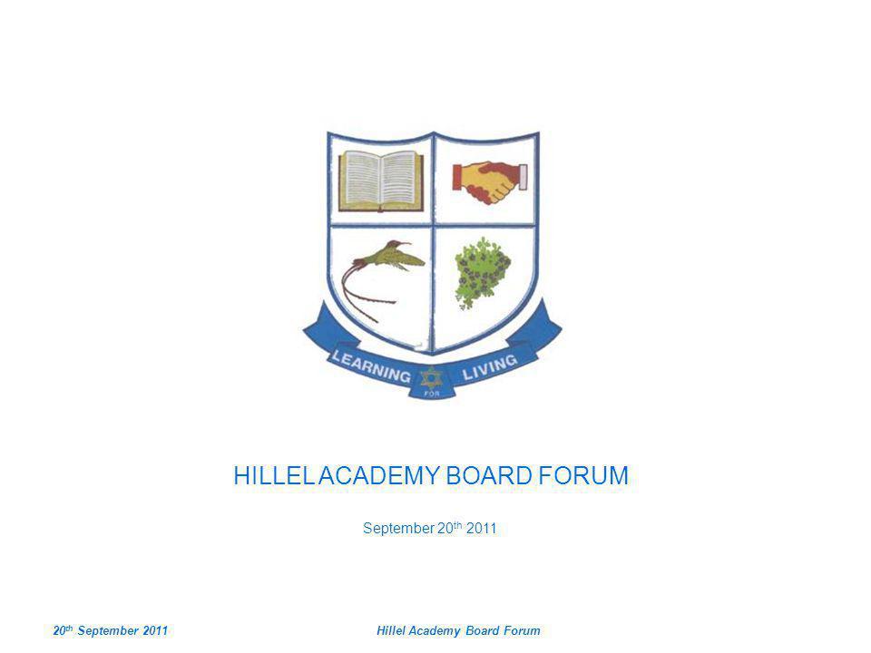 Hillel Academy Board Forum