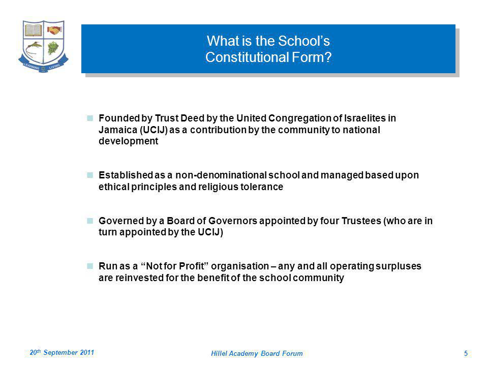 What is the School's Constitutional Form