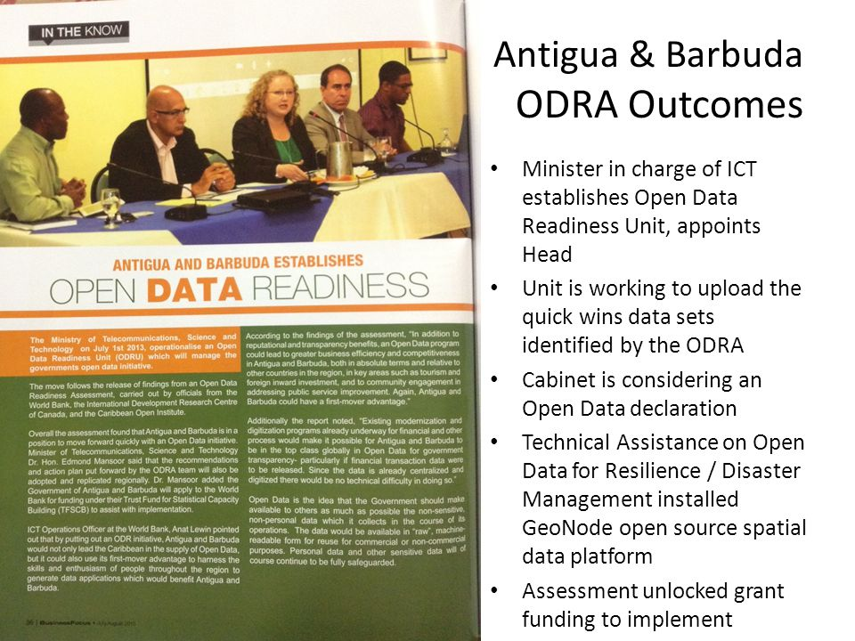 Antigua & Barbuda ODRA Outcomes