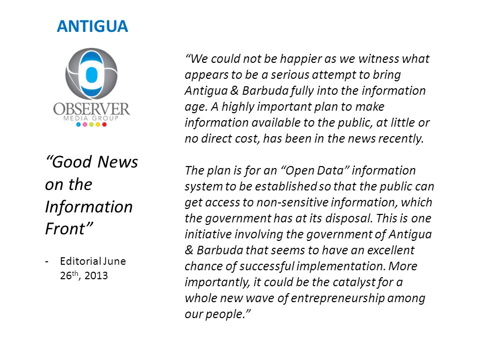 Good News on the Information Front