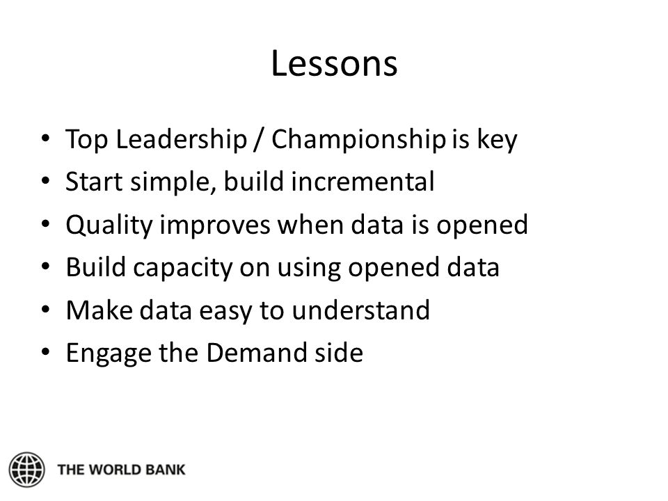 Lessons Top Leadership / Championship is key
