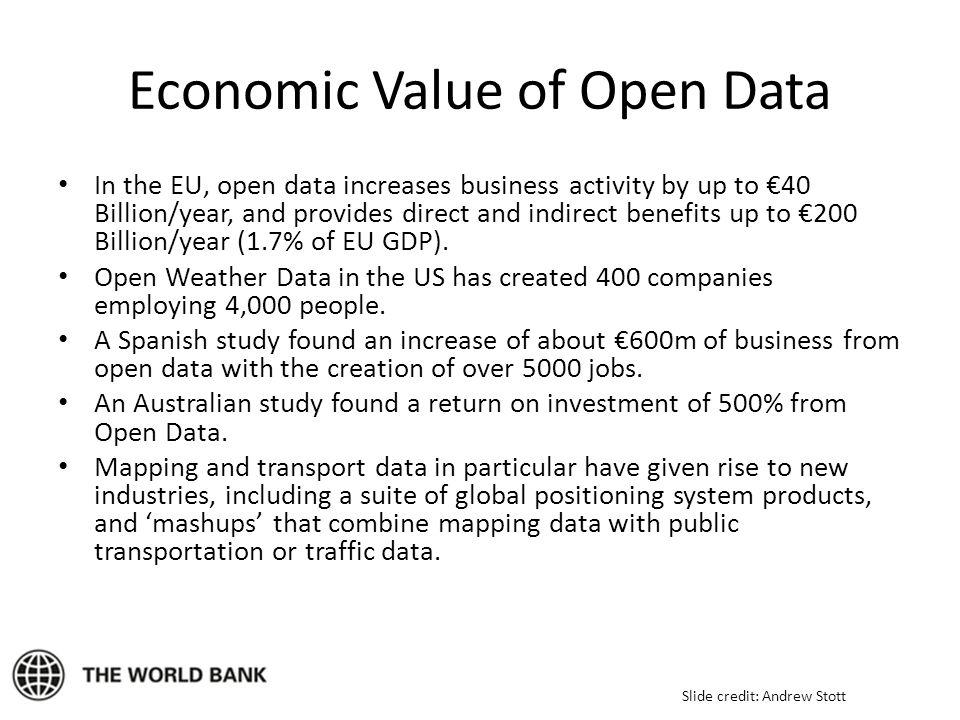 Economic Value of Open Data