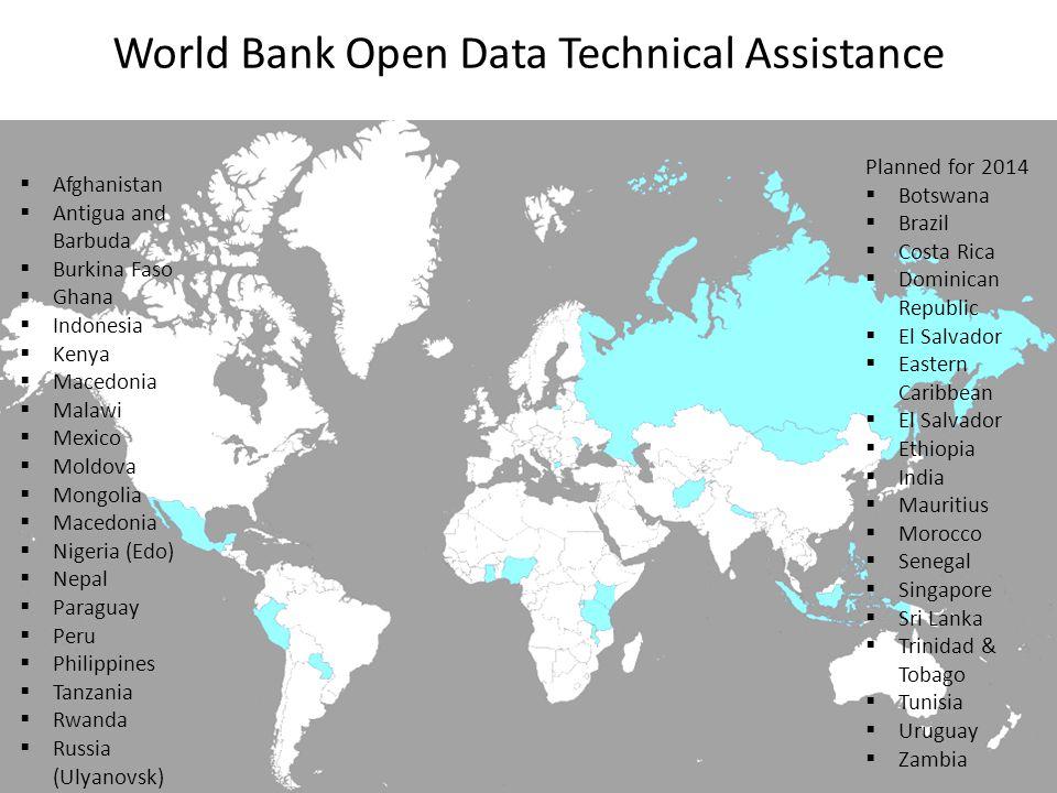 World Bank Open Data Technical Assistance
