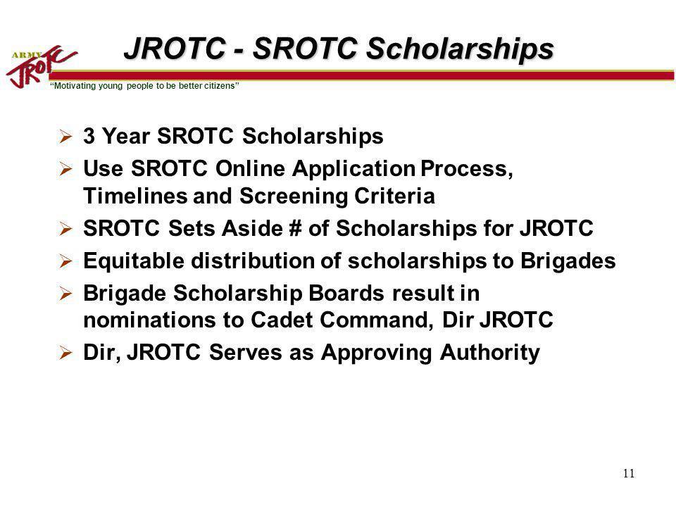JROTC - SROTC Scholarships