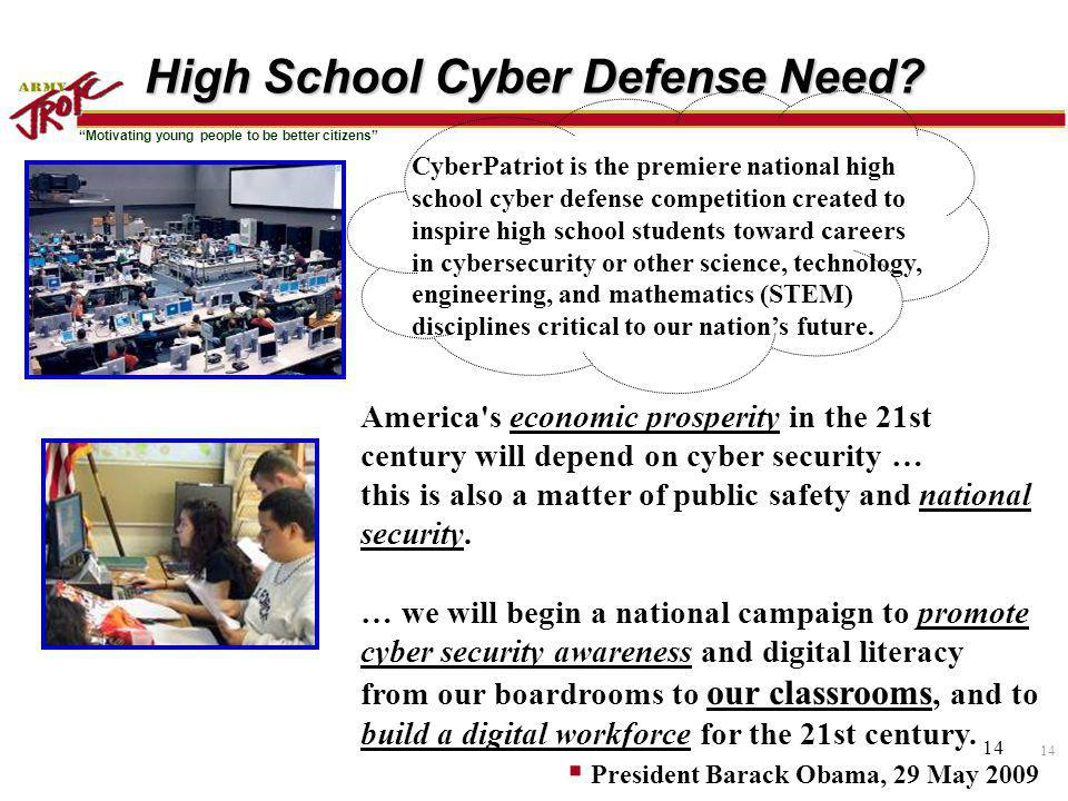 High School Cyber Defense Need