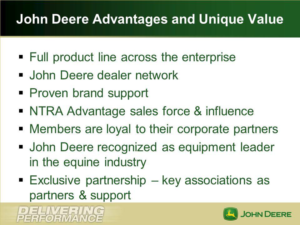 John Deere Advantages and Unique Value