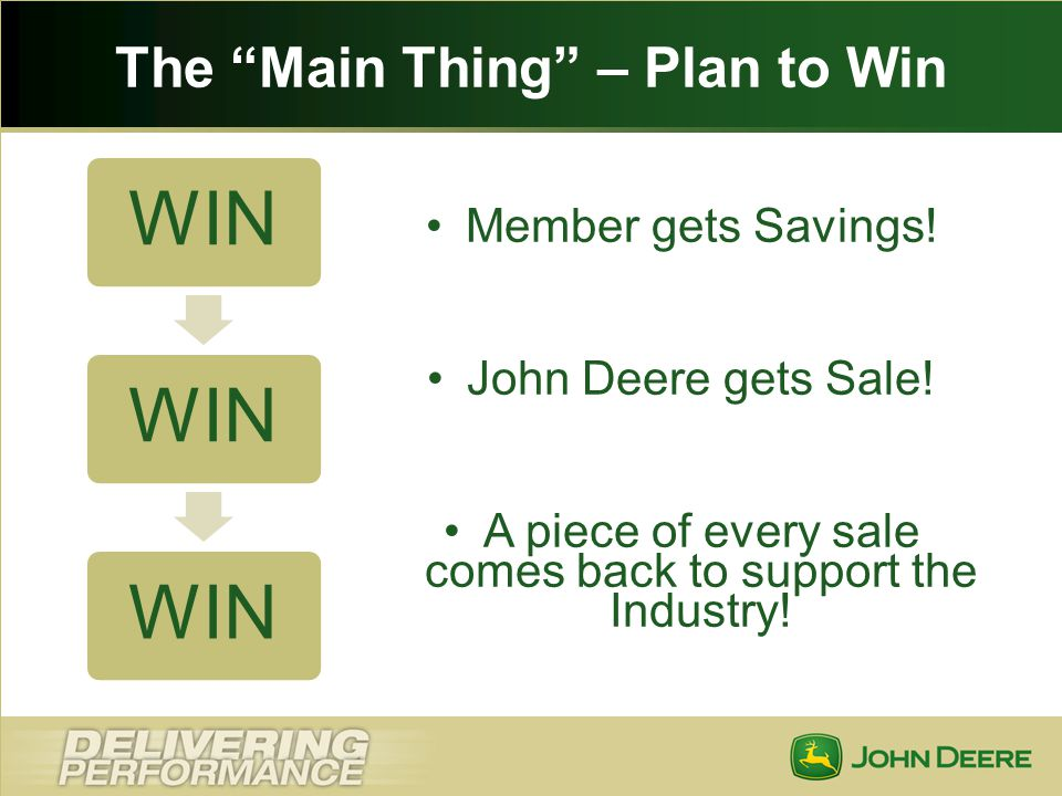 The Main Thing – Plan to Win