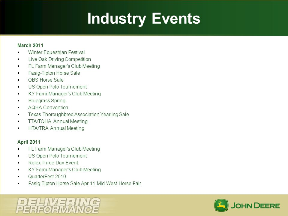 Industry Events March 2011 Winter Equestrian Festival