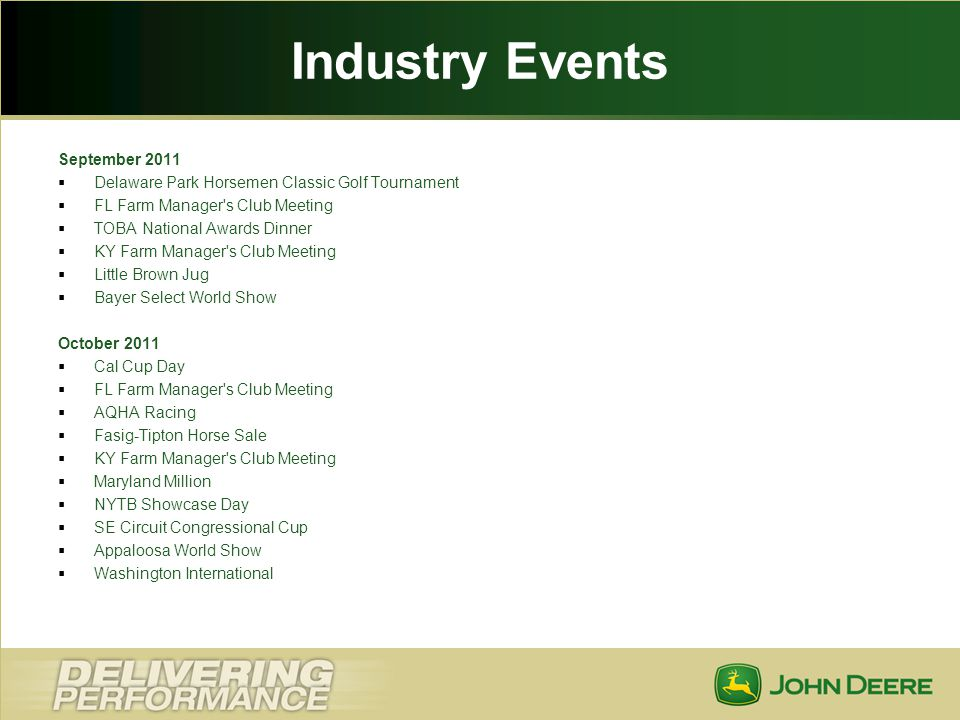 Industry Events September 2011
