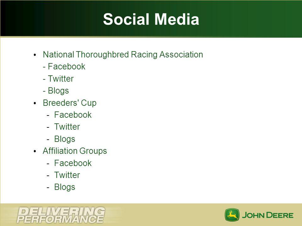 Social Media National Thoroughbred Racing Association - Facebook