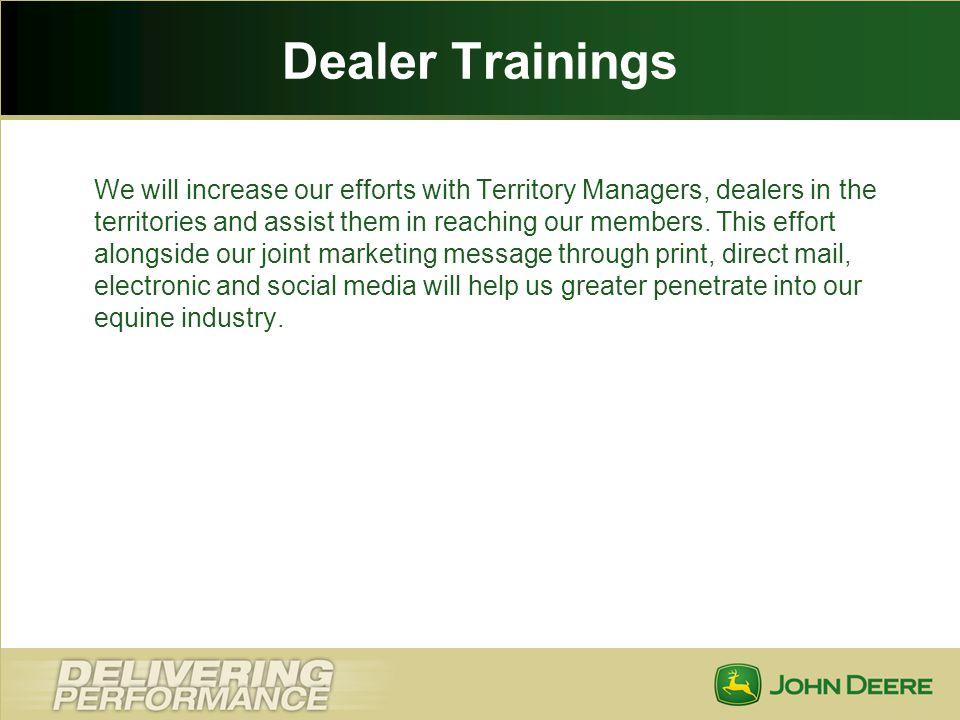 Dealer Trainings