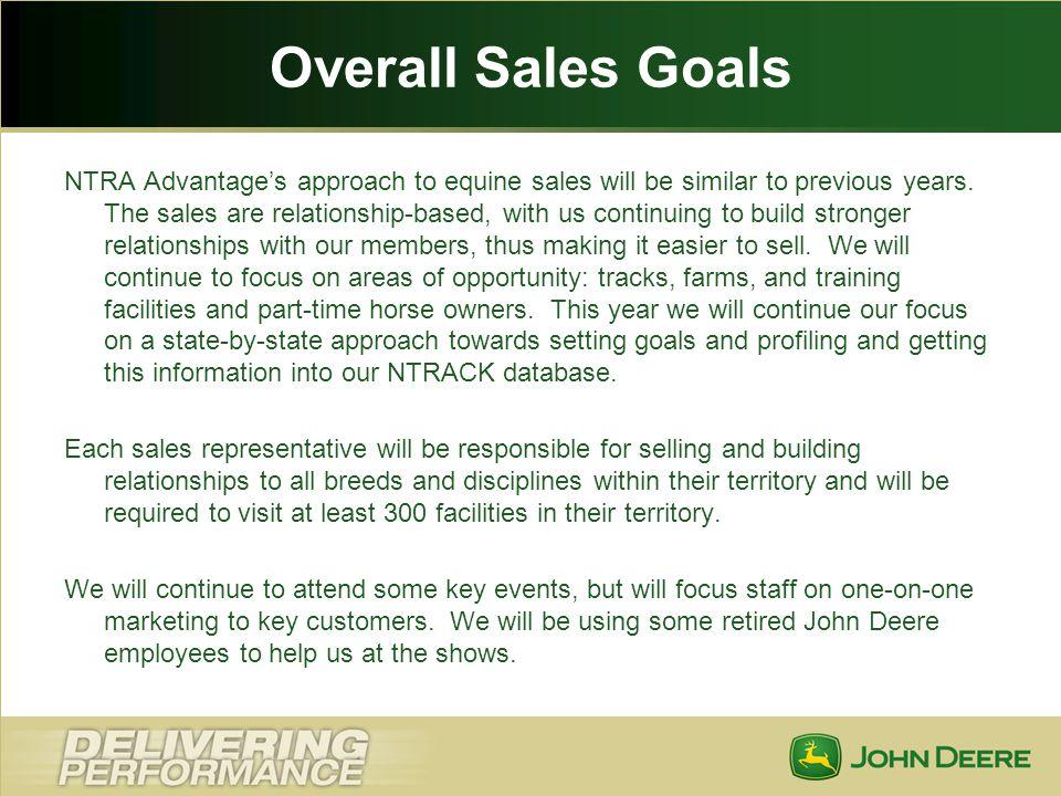 Overall Sales Goals