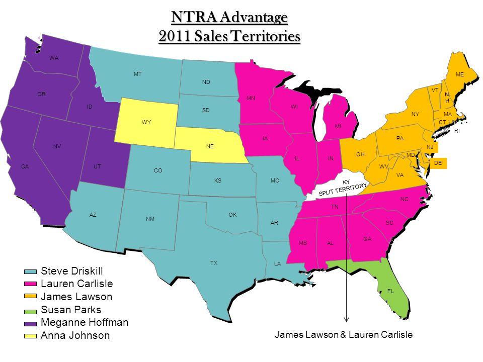 NTRA Advantage 2011 Sales Territories