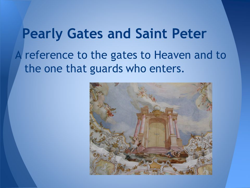 Pearly Gates and Saint Peter