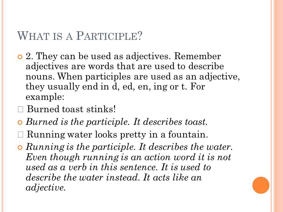 What is a Participle
