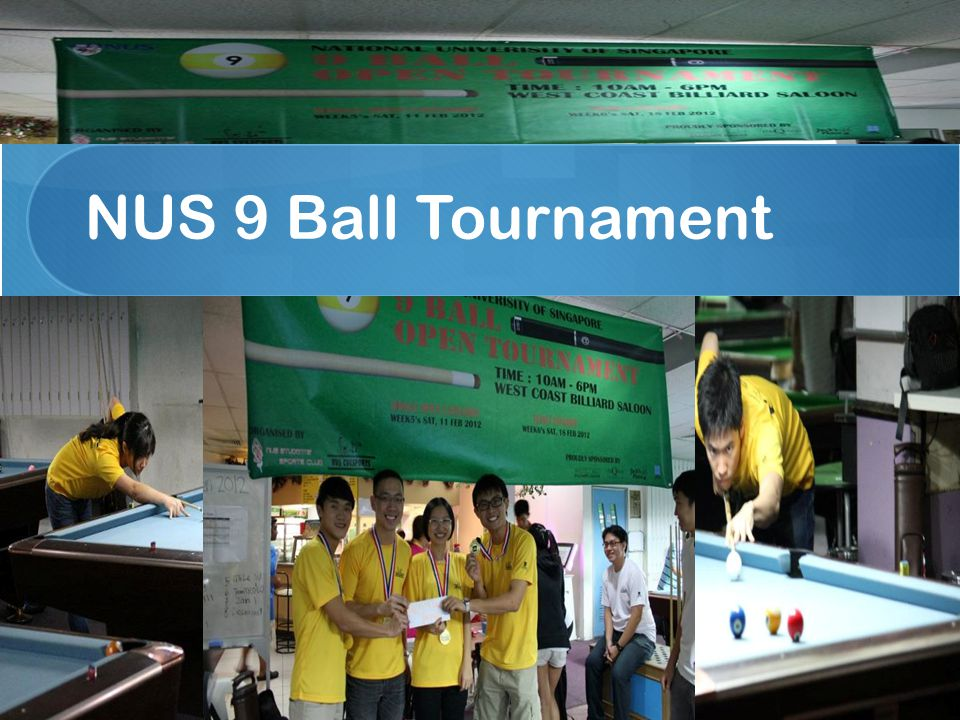 NUS 9 Ball Tournament