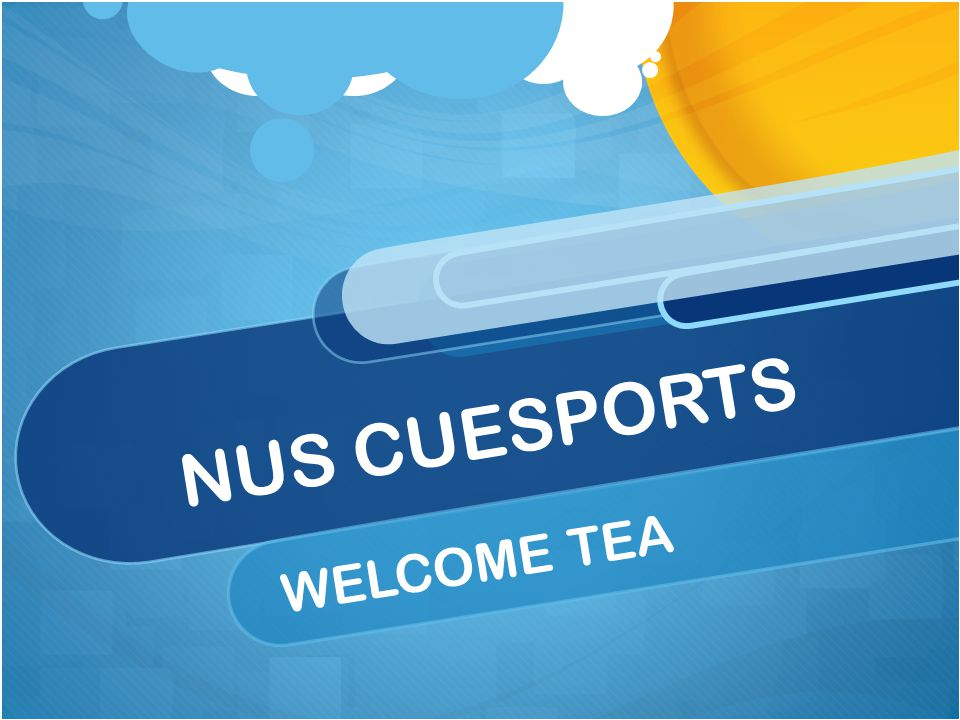 NUS CUESPORTS WELCOME TEA