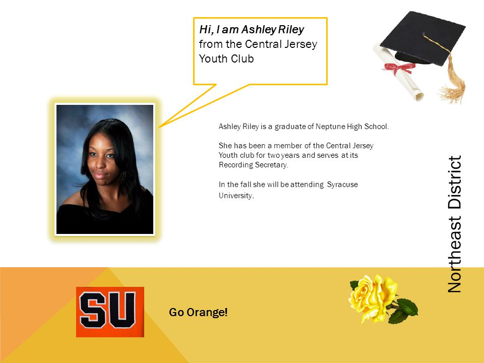 Hi, I am Ashley Riley from the Central Jersey Youth Club