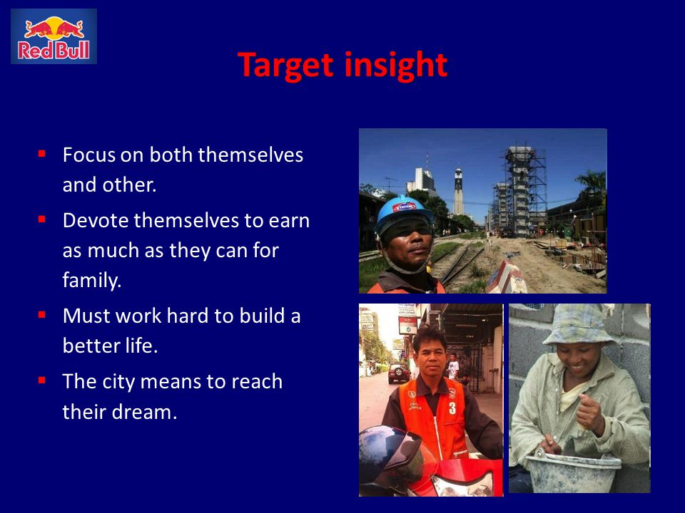 Target insight Focus on both themselves and other.