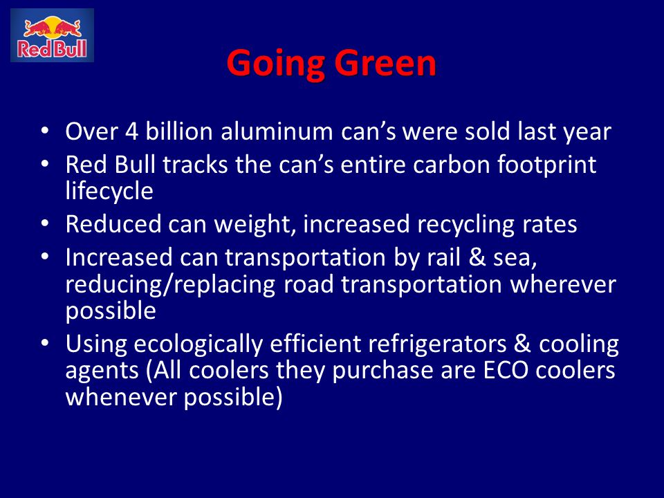 Going Green Over 4 billion aluminum can's were sold last year