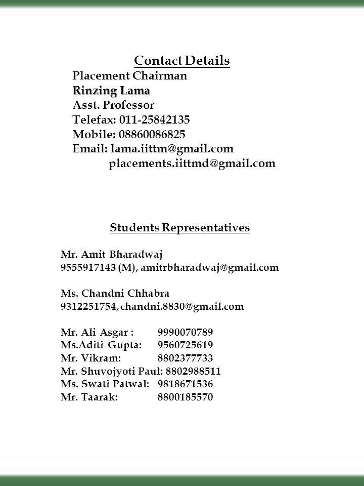 Students Representatives