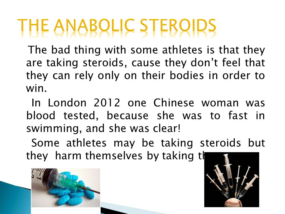 THE ANABOLIC STEROIDS